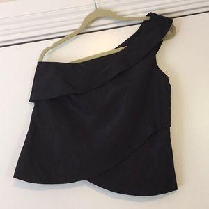 Women's Zara Basics One Shoulder Satiny Tank